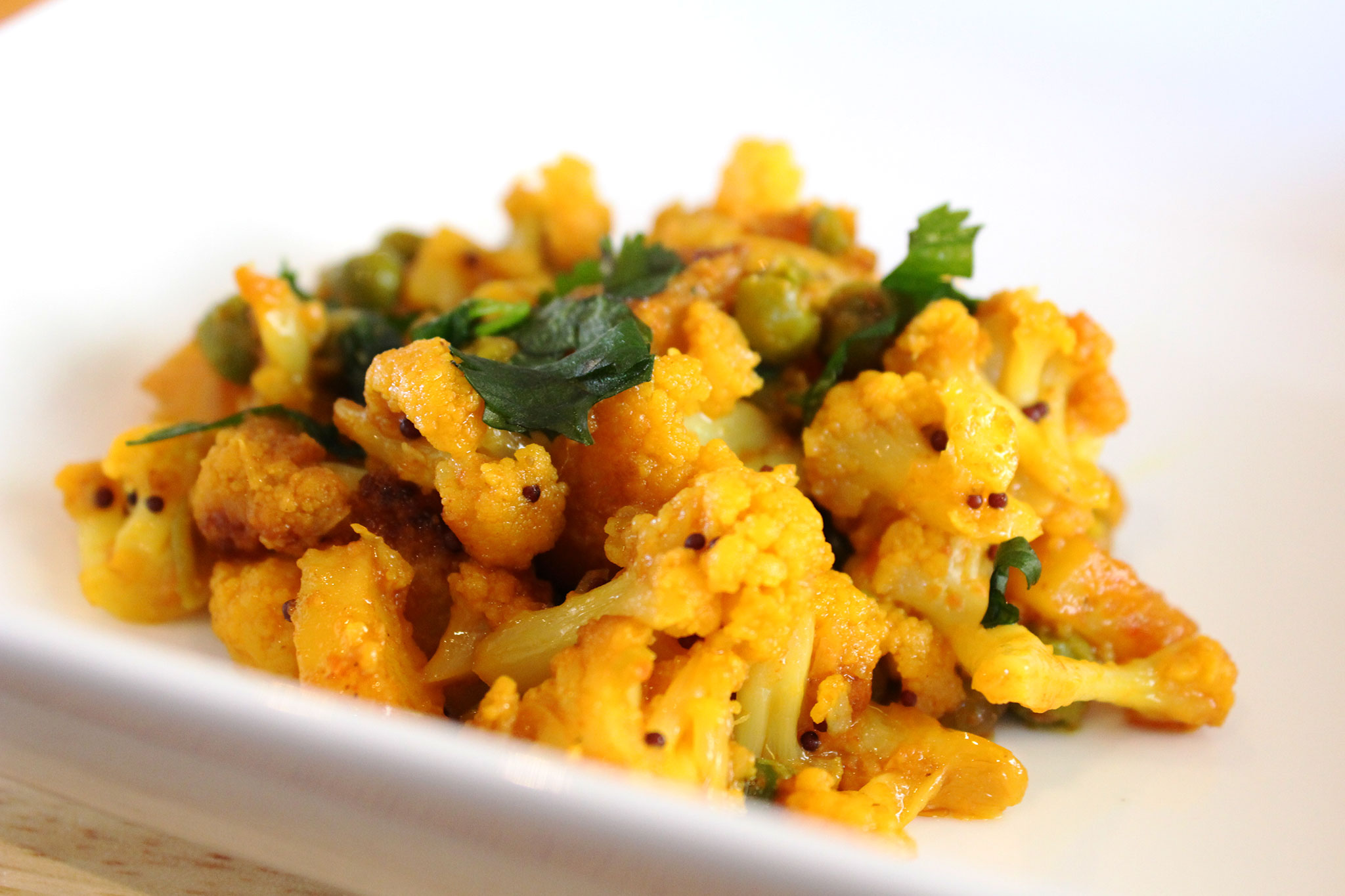 Ranju Indian Recipes - cauliflower peas and potatoes