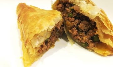 Ranju Indian Recipes - Lamb keema puff pastry parcels (lamb mince)